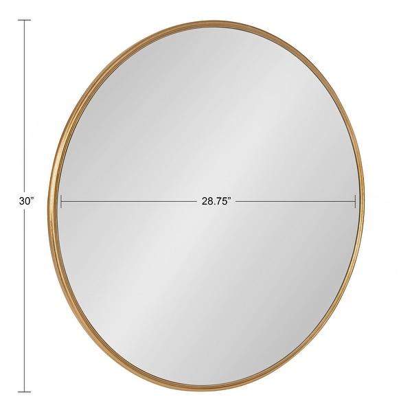 "Kate and Laurel Caskill Round Framed Wall Mirror - 30"" Diameter"