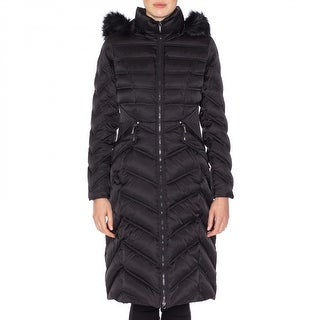Laundry By Shelli Segal Puffer with Removable Faux Fur Hood