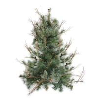 """3' x 28"""" Country Mixed Pine Artificial Christmas Wall or Door Tree - Unlit - green"""