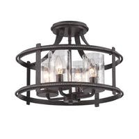 Designers Fountain 87511 Palencia 4 Light Semi-Flush Ceiling Fixture - artisan pardo wash