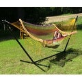 Sunnydaze Thick Cord Woven Single Person Mayan Hammock with Curved Spreader Bars - Thumbnail 5
