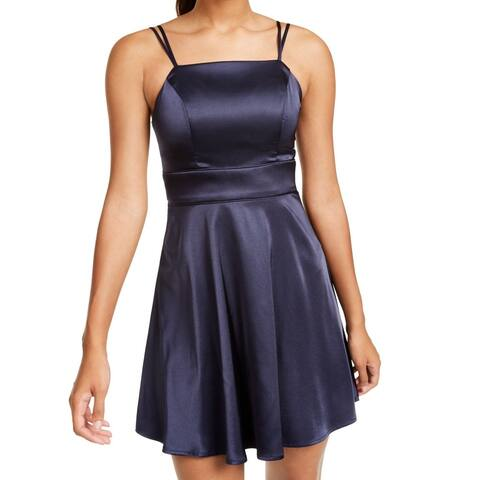 Sequin Hearts Women's Dress Navy Blue Size 0 A-Line Strappy Fit & Flare