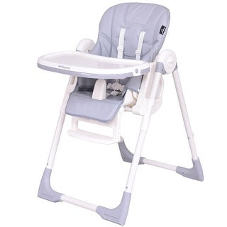 Safeplus Baby High Chair Infant Toddler Feeding Booster Folding Height Adjustable Recline - gray