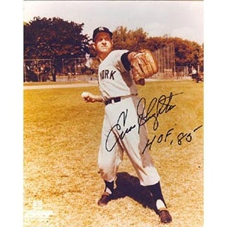 "Enos Slaughter New York Yankees Autographed 8x10 Photo Inscribed ""HOF 85"" This item comes with a certificate of authen"
