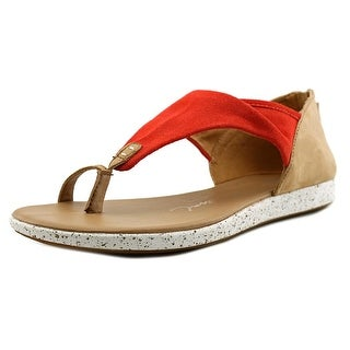 Emu Australia Yarra Women  Open Toe Leather Red Thong Sandal