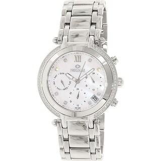 Precimax Women's Glimmer Elite PX13346 Silver Stainless-Steel Dress Watch