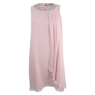 Vince Camuto Women's Jeweled Chiffon Shift Dress