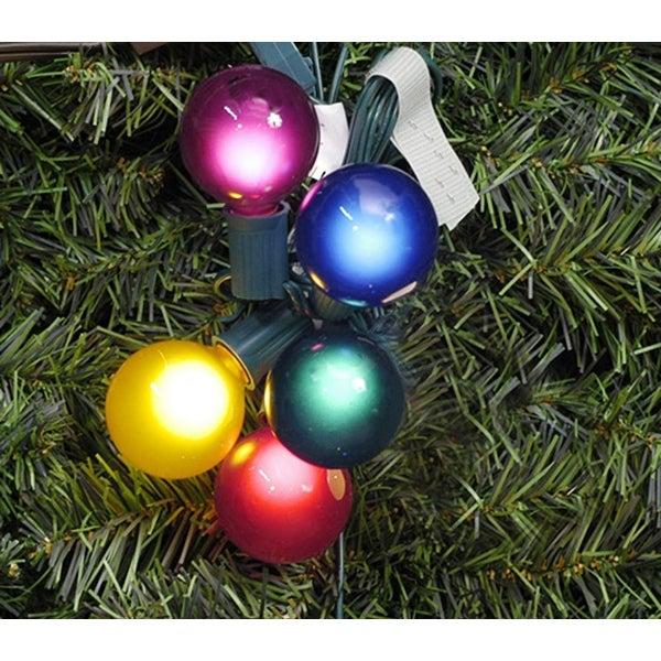 Vickerman Pack of 10 Multi Satin G50 Globe Replacement Christmas Light Bulbs for C7 Socket