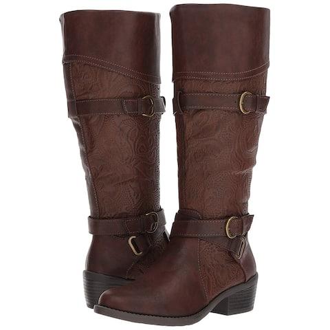 Easy Street Womens Kelsa Almond Toe Knee High Fashion Boots