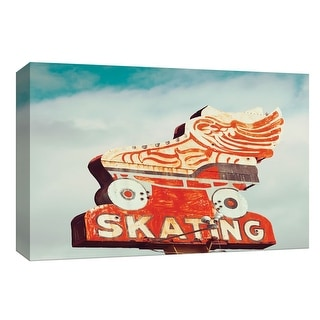 """PTM Images 9-148392  PTM Canvas Collection 8"""" x 10"""" - """"Retro Skating"""" Giclee Signs Art Print on Canvas"""