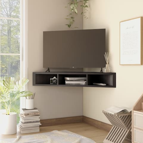 Copper Grove Sukhumi 47-inch 3-shelf Wall-mounted Corner TV Console