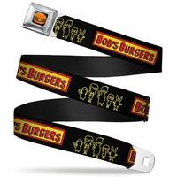 Hamburger Full Color Black Bob's Burgers Belcher Family Pose Outline Black Seatbelt Belt