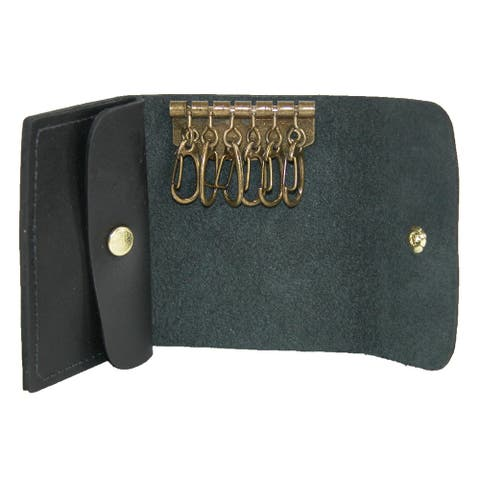 CTM® Men's Leather Key Case - one size