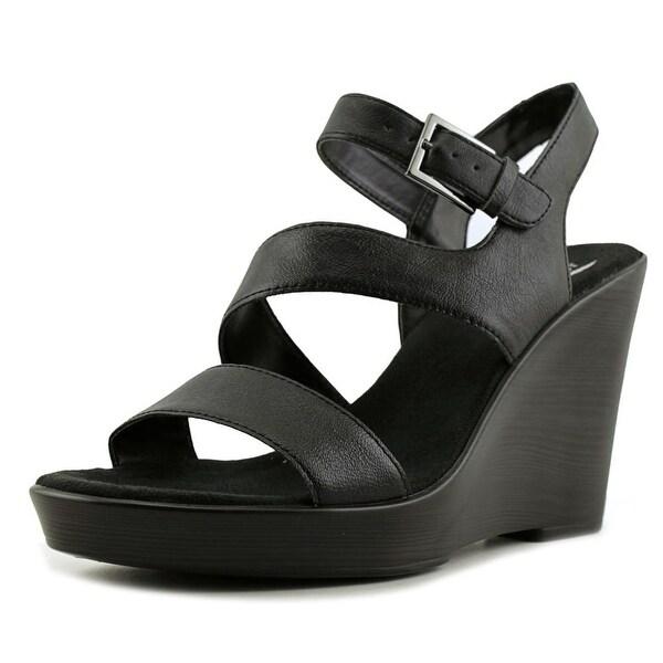 Aerosoles Explorative Women Open Toe Synthetic Black Wedge Sandal