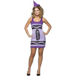 Rasta Imposta Crayola Wisteria Tank Dress Adult Costume - Solid - 4-10