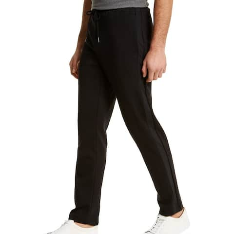 Calvin Klein Mens Pants Black Size Large L Jogger Woven Knit Stretch