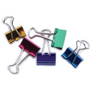 "Small Binder Clips 3/4"" 8/Pkg-Assorted Colors"