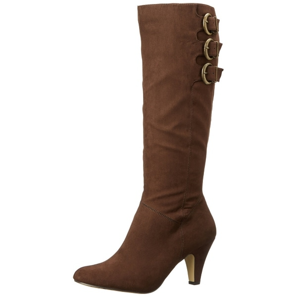 Bella-Vita NEW Dark Brown Shoes Size 5.5M Knee-High Buckled Boots
