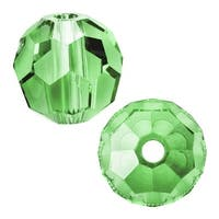 Swarovski Elements Crystal, 5000 Round Beads 6mm, 10 Pieces, Peridot