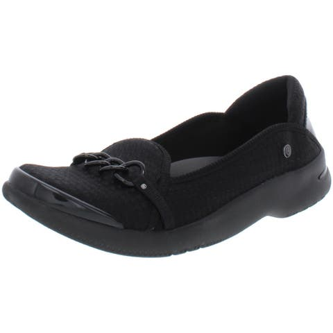 Bzees Womens Admire Loafers Slip On Comfort - Black - 8.5 Medium (B,M)
