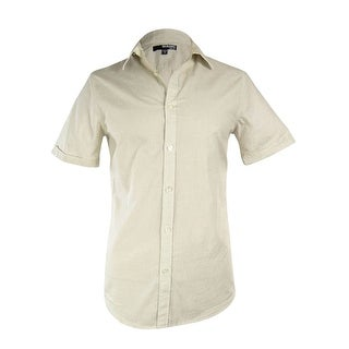 Murano Men's Slim Fit Micro Check Woven Shirt