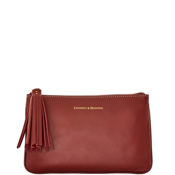 Dooney & Bourke Lambskin Carrington Pouch (Introduced by Dooney & Bourke at $88 in Aug 2016) - Bordeaux