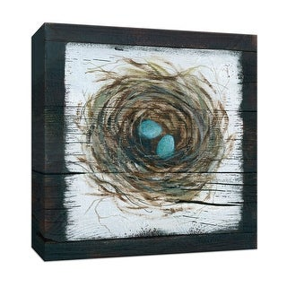 """PTM Images 9-147477  PTM Canvas Collection 12"""" x 12"""" - """"Stained Nest"""" Giclee Eggs Art Print on Canvas"""