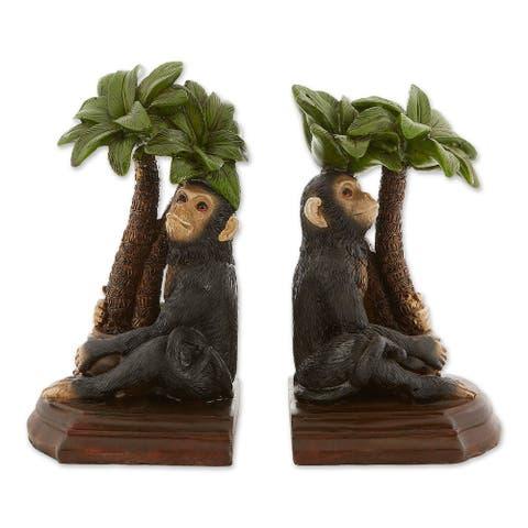 Popular Monkey Bookends - Green
