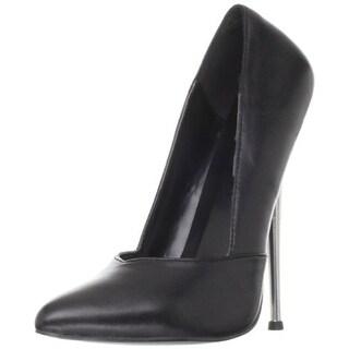 Devious Womens Dagger03 Leather Stiletto Pumps