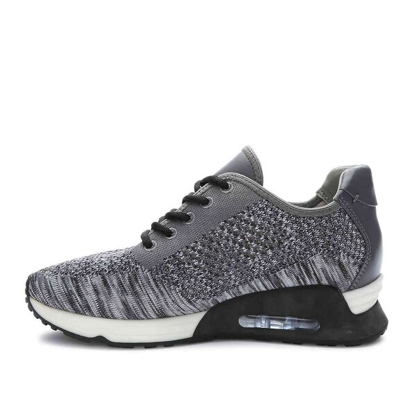 Gunmetal Mens lorna Low Top Lace Up Running Sneaker - 6.5