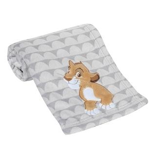 Lambs & Ivy Disney Baby THE LION KING Gray Fleece Appliqued Baby Blanket