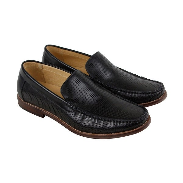 Kenneth Cole New York In The Media Mens Black Leather Casual Dress Loafers Shoes