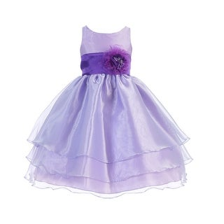Girls Lilac Purple Flower Junior Bridesmaid Dress 8-12