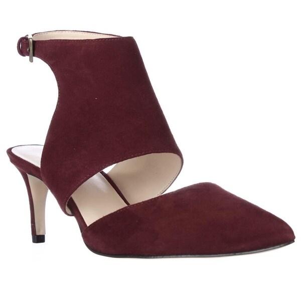 Nine West Salinda Pointed-Toe Ankle Strap Heels, Dark Red