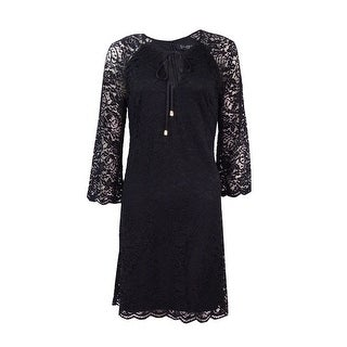 Jessica Simpson Women's Floral Lace Keyhole Shift Dress