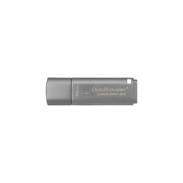 Kingston DTLPG3/16GB Kingston 16GB DataTraveler Locker+ G3 USB 3.0 Flash Drive - 16 GBUSB 3.0 - Silver - 1 Pack - Encryption