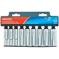 Crescent CSAS7 Metric Deep Well Socket Set, 3/8""
