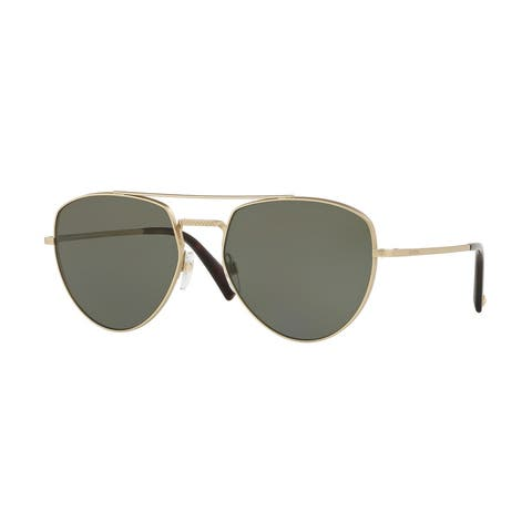 Valentino VA2023 30169A 57 Matte Lighr Gold Woman Irregular Sunglasses