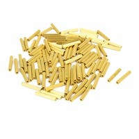 Unique Bargains 100 Pcs Female Threaded Pillars Brass Standoff Spacer Gold Tone M2x19mm
