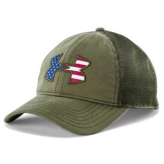 Under Armour Mens Flag Logo Mesh Cap - Green