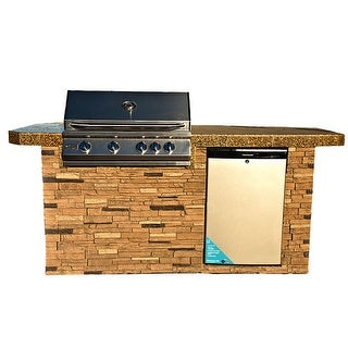 """Link to KoKoMo Grills 7'6"""" St. John Outdoor Kitchen BBQ Island Grill Similar Items in Grills & Outdoor Cooking"""