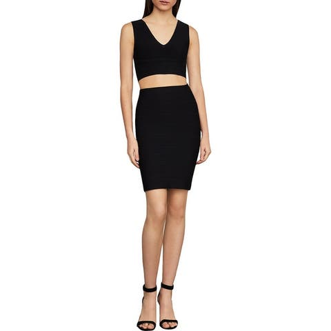 BCBG Max Azria Alexa Women's Bandage Stretch Sweater Mini Skirt