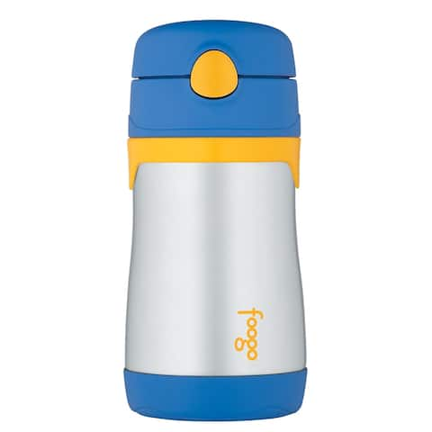 Thermos foogo leak-proof straw bottle blue