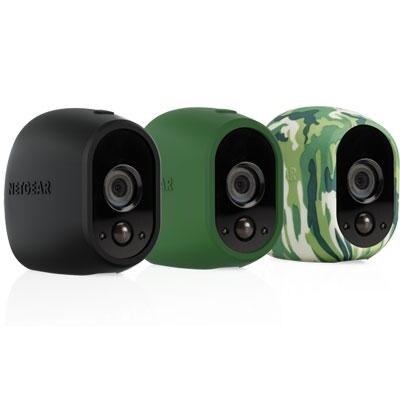 Netgear Vma1200-10000S Set Of 3 Skins For Arlo Camera - Black/Green/Camouflage