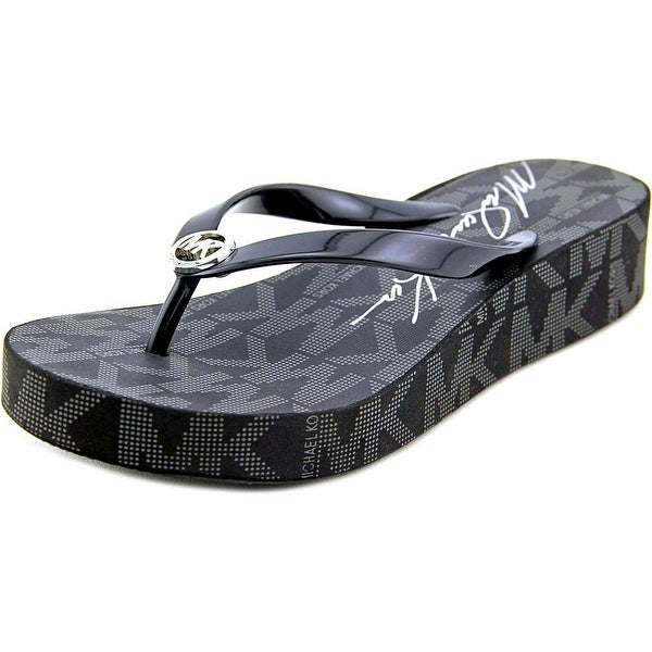 Michael Michael Kors Bedford Flip Flop Women Open Toe Black Flip Flop Sandal