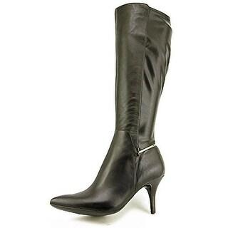 Calvin Klein Women's Rikita Wide Calf Leather Knee High Boot