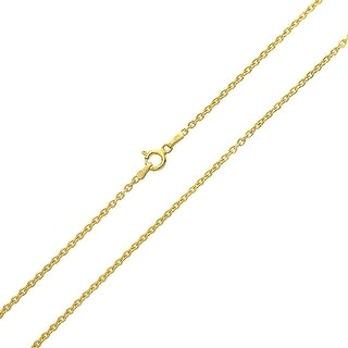 Bling Jewelry Gold Plated .925 Silver 40 Gauge Round Link Rolo Chain Italy
