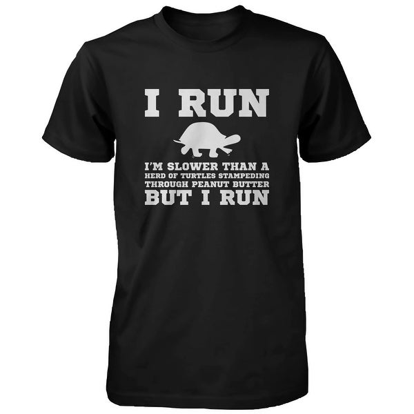 I'm Slower than a Turtle Funny Men's Workout Shirt Fitness Short Sleeve Tee Funny Shirt