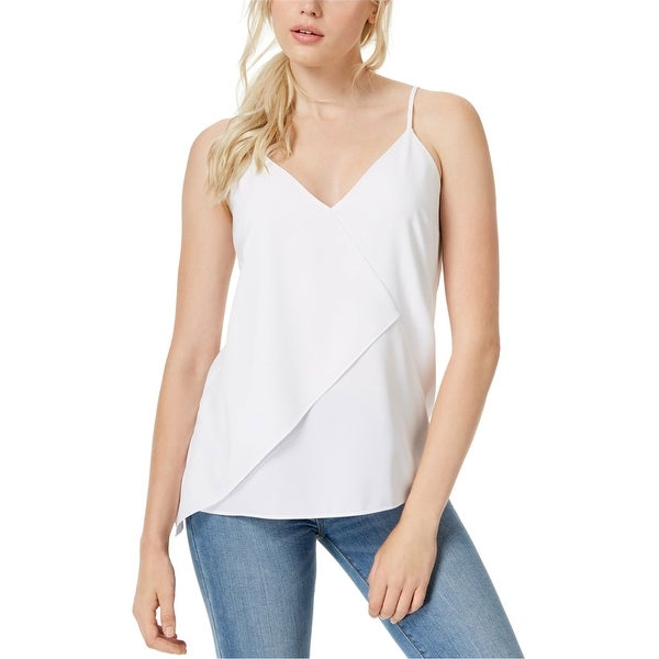 Bar Iii Womens Asymmetrical Knit Blouse