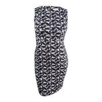 Calvin Klein Women's Petite Printed Sheath Dress (12P,  Black/Cream) - Black/Cream - 12P